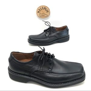 Ecco men's black leather Oxford dress shoes 40